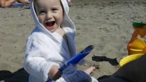 Strand umgraben